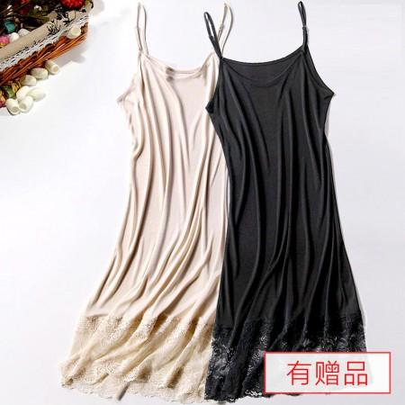 """SEERUU适语""""唯美蕾丝""""真丝吊带睡裙2件组 赠仿真丝家居服套装2组"""