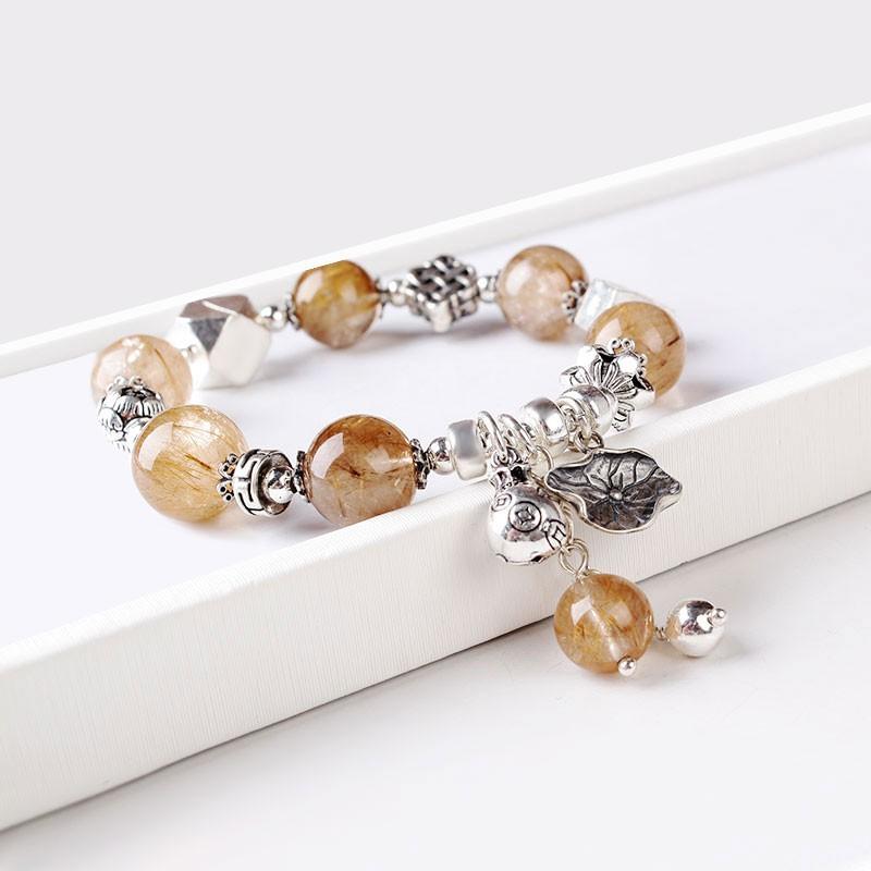 珠来珠往时尚金丝发晶手链