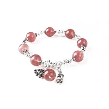 珠来珠往吉祥如意草莓晶手串