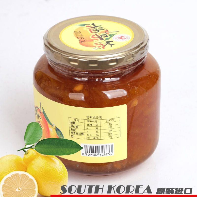 韩国进口 SF蜂蜜柚子茶1000g*2瓶  共同