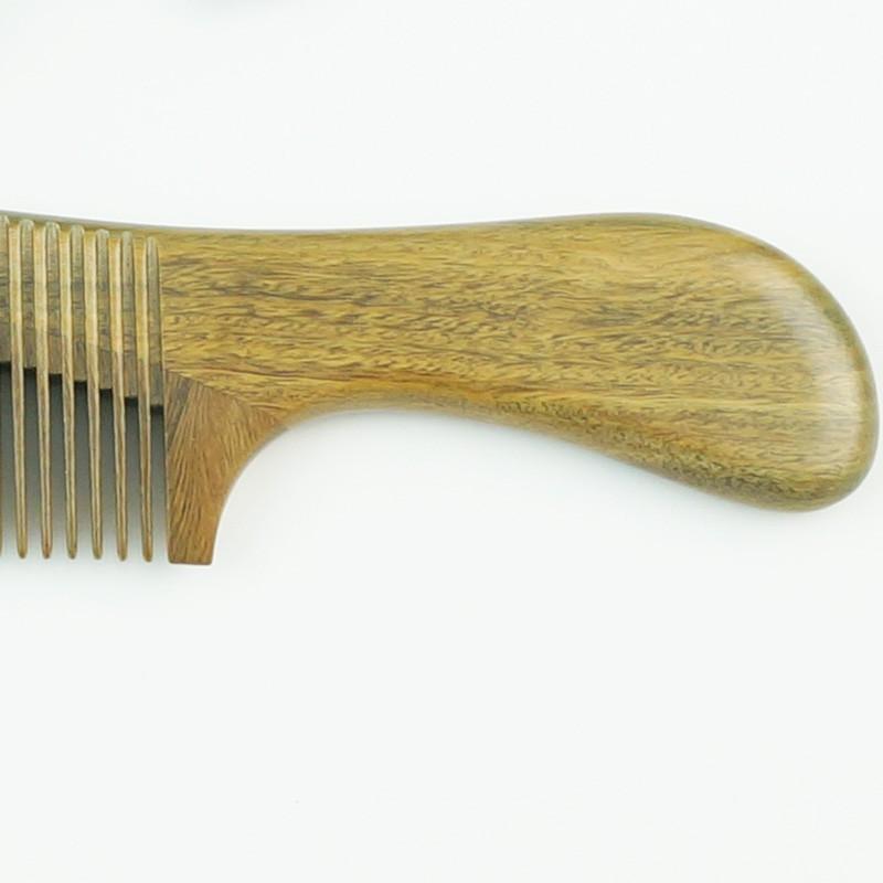 百年许氏 玉檀香木拉背梳子-古典