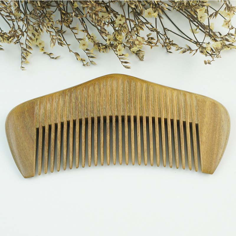百年许氏 玉檀整木拉背木梳子-小桥