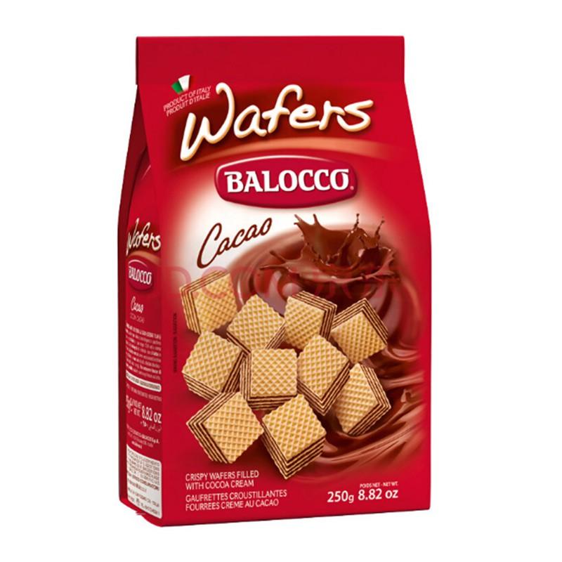 意大利百乐可 可可/榛仁味威化饼干250g*6包