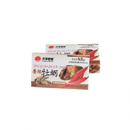 大洋世家 烟熏牡蛎罐头·85g*8罐