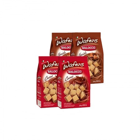 意大利百乐可 可可/榛仁味威化饼干250g*4包