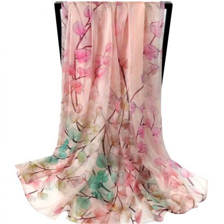 丁摩 桑蚕丝围巾真丝围巾沙滩巾真丝披肩W014·三·月
