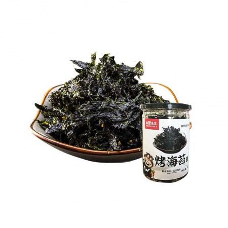海狸先生 即食烤海苔·40g*6罐(香辣味3罐+原味3罐)