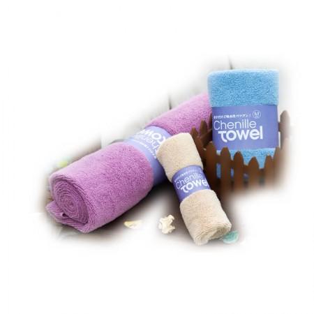 多益得粉红色纤维毛巾30cm*30cm*3条
