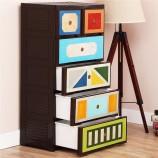 Yeya也雅收纳柜儿童衣柜宝宝组合衣柜塑料 抽屉式加厚整理储物柜