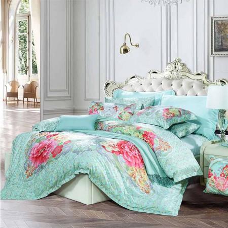 富安娜圣之花倾世如歌长绒棉套件·绿色