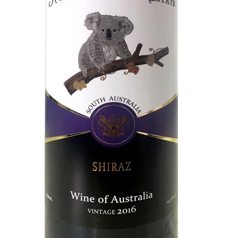 澳大利亚原瓶进口圣骑庄园树袋熊西拉干红葡萄酒750ml*2瓶