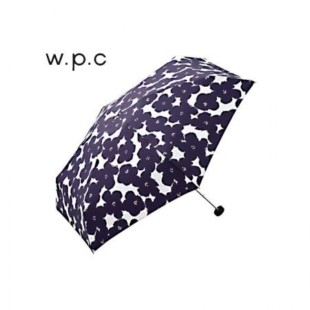 日本直邮 日本wpc 超轻晴雨两用伞便携折叠伞 防紫外线 精美伞套·花朵蓝色