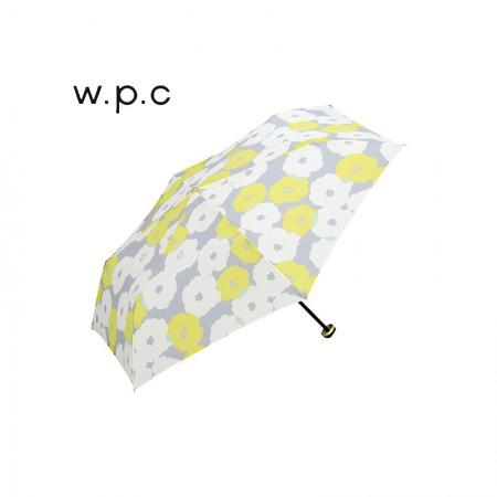 日本直邮 日本wpc 超轻晴雨两用伞便携折叠伞 防紫外线 精美伞套·花朵黄色