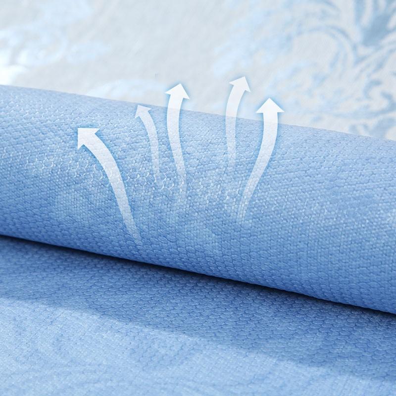 【富安娜出品】馨而乐冰丝凉席三件套·蓝色