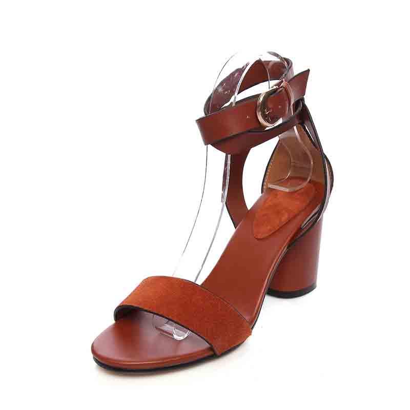 罗马女鞋真皮鱼嘴网