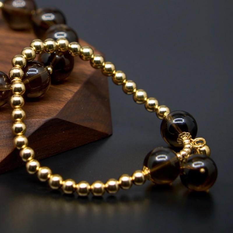 禾晶珠宝茶晶子母手串