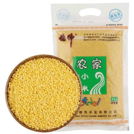 【包邮】【德伟】有机农家小米1KG*3袋