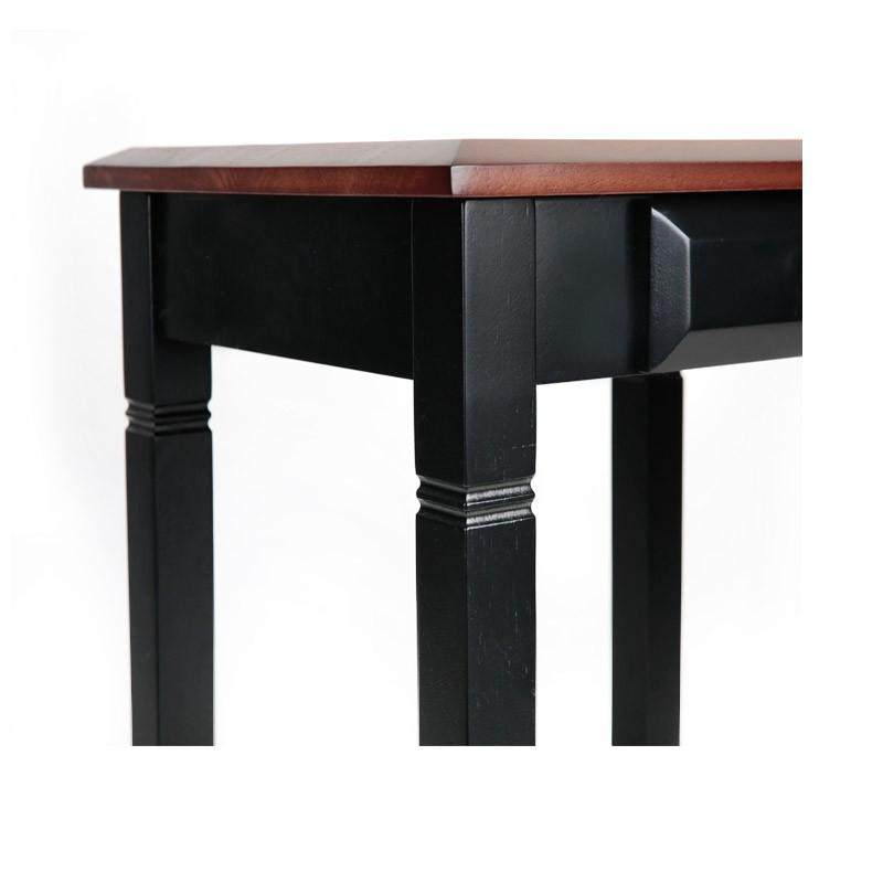英国英尼斯INNESS 原装进口橡胶木沙发边桌杂志架