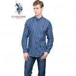 u.s.polo assn.(美国马球协会)美式长袖衬衫 三白条纹·男