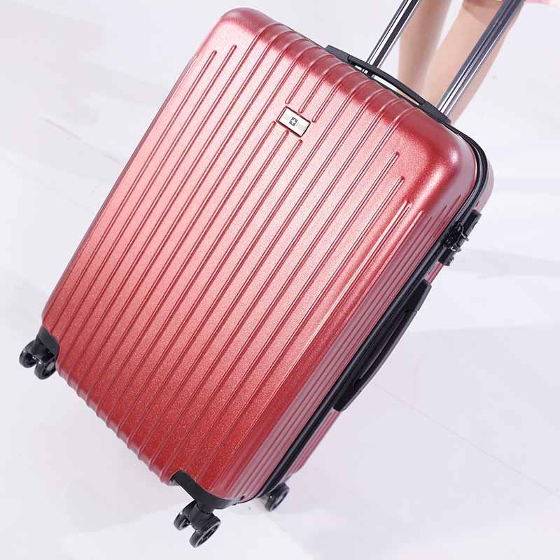 SWISSWIN炫彩24英寸拉杆箱套组·酒红色