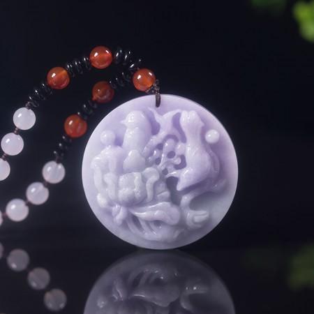 铂熙春带彩翡翠套组(5件组)
