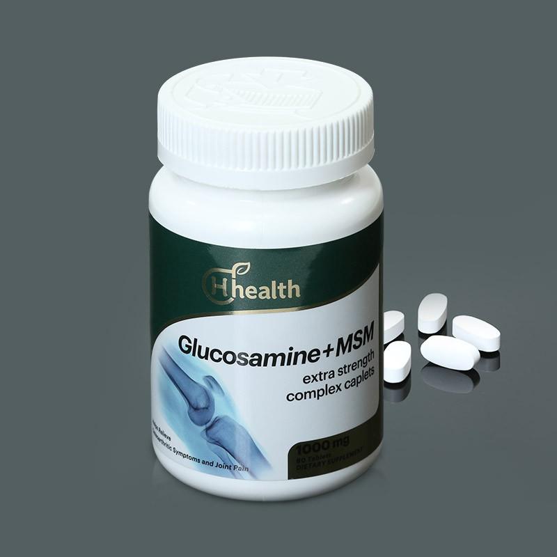 跨境品加拿大原装进口H Health葡萄糖胺MSM多效营养片组合(新)