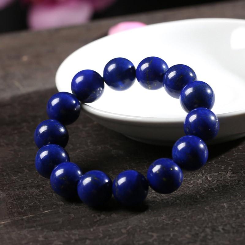 曼丽翠14mm青金石手链蓝色的梦