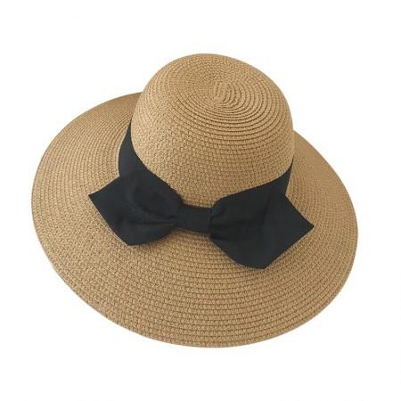 出口品质 明星同款可折叠防紫外线夏季百搭蝴蝶结草帽