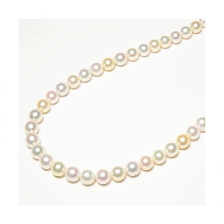 Vermeer 限量10条 高性价比混彩金白色日本AKOYA珍珠项链8-8.5m