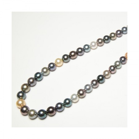 Vermeer 限量2条 65cm 三号伤 黑金白混彩珍珠项链8-10mm