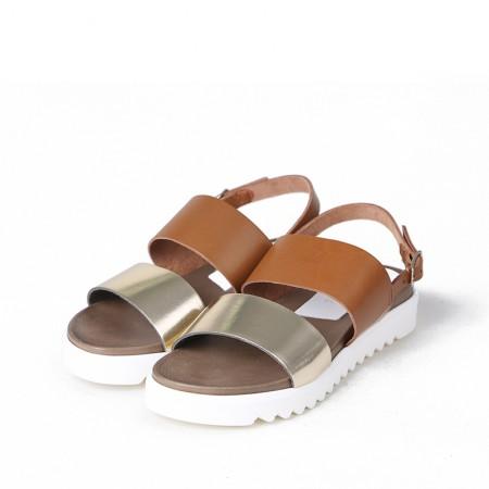 缇缇柏嘉 / bagatt女士休闲平跟鞋11CG47002610107·棕色+浅咖色