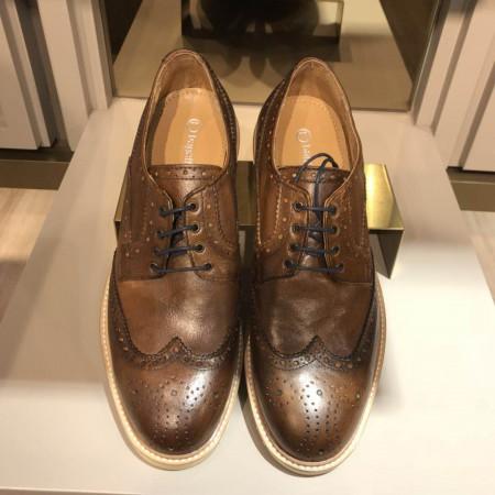 bagatt 意大利原装进口超轻底牛皮波洛商务休闲男鞋12·棕色