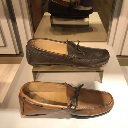 bagatt 意大利原装进口牛皮超舒适一脚蹬男鞋11·深棕