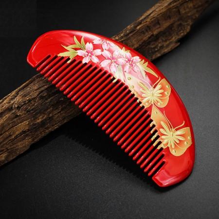 百年许氏 杨桃木手绘漆艺梳子