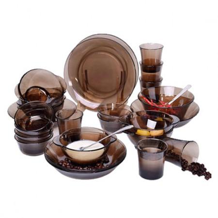 DURALEX多莱斯 餐具套装六人25件套·咖啡色