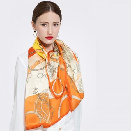 唯美桑蚕丝围巾·桔色