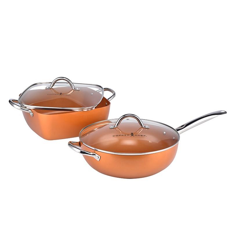 美国COPPER CHEF铜大厨多功能不粘锅家庭尊享组