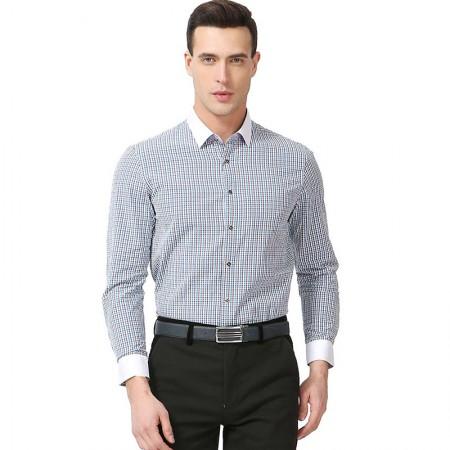 莱恩雷迪时尚百搭免烫全棉男士长袖衬衫103261747·咖啡色