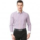 莱恩雷迪条纹全棉商务休闲男士长袖衬衫103261569·红蓝条