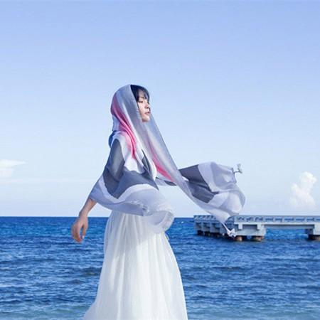 Wise Hepburn绚丽民族风系列四季围巾披肩·花色D