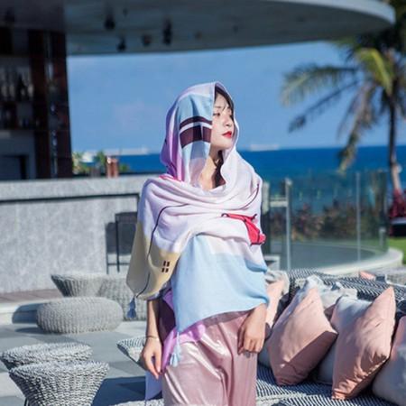 Wise Hepburn绚丽民族风系列四季围巾披肩·花色E