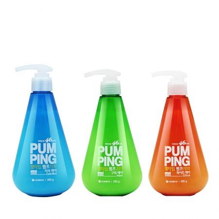 香港直邮 LG倍瑞傲 冰蓝*1瓶+沁橙*1瓶+萌绿*1瓶按压式牙膏(285g)