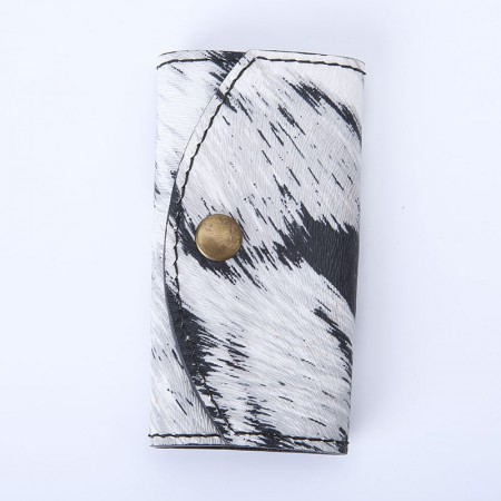 法国掌纹牛皮纯手工钥匙包(25个工时)孤品·斑马纹