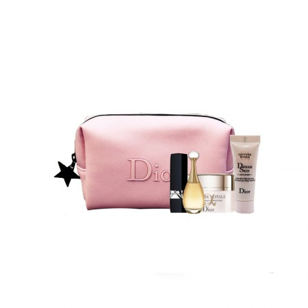 香港直邮 迪奥(Dior)雪晶灵焕亮透白5件套 (乳霜+口红+真我香水+修颜乳)