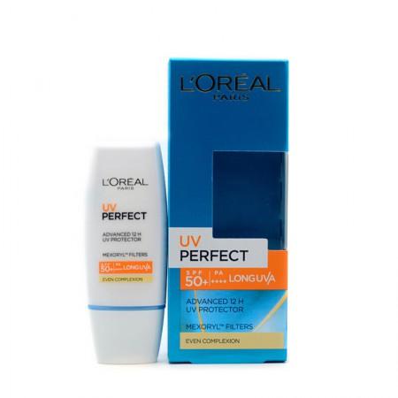 香港直邮 欧莱雅(Loreal)多重防护隔离乳SPF50 UV防晒霜30ml肤色