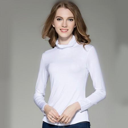 莫代尔百搭气质宽松打底衫·白色