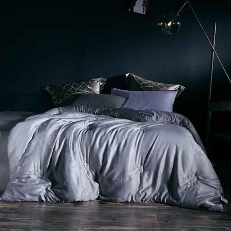 罗爵家纺 石墨烯暖肤冬被 银灰色 200*230cm(7.5斤重)