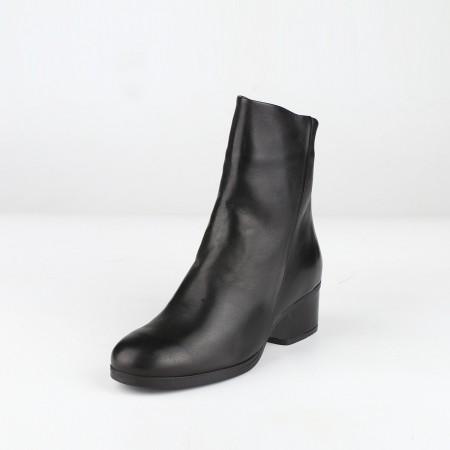 bagatt意大利进口羊皮革女短靴12EI49D3100·黑色