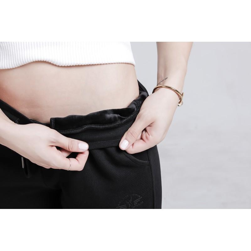 鹿王·澳普蒂姆女士菠萝纹提花休闲长裤·女