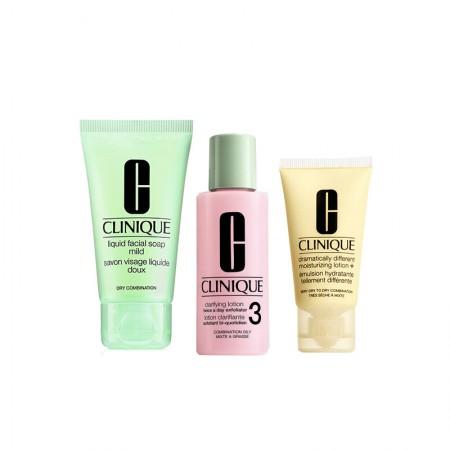 香港直邮 倩碧(CLINIQUE)三步曲旅行套装 洁面皂+明肌3号水+黄油啫喱
